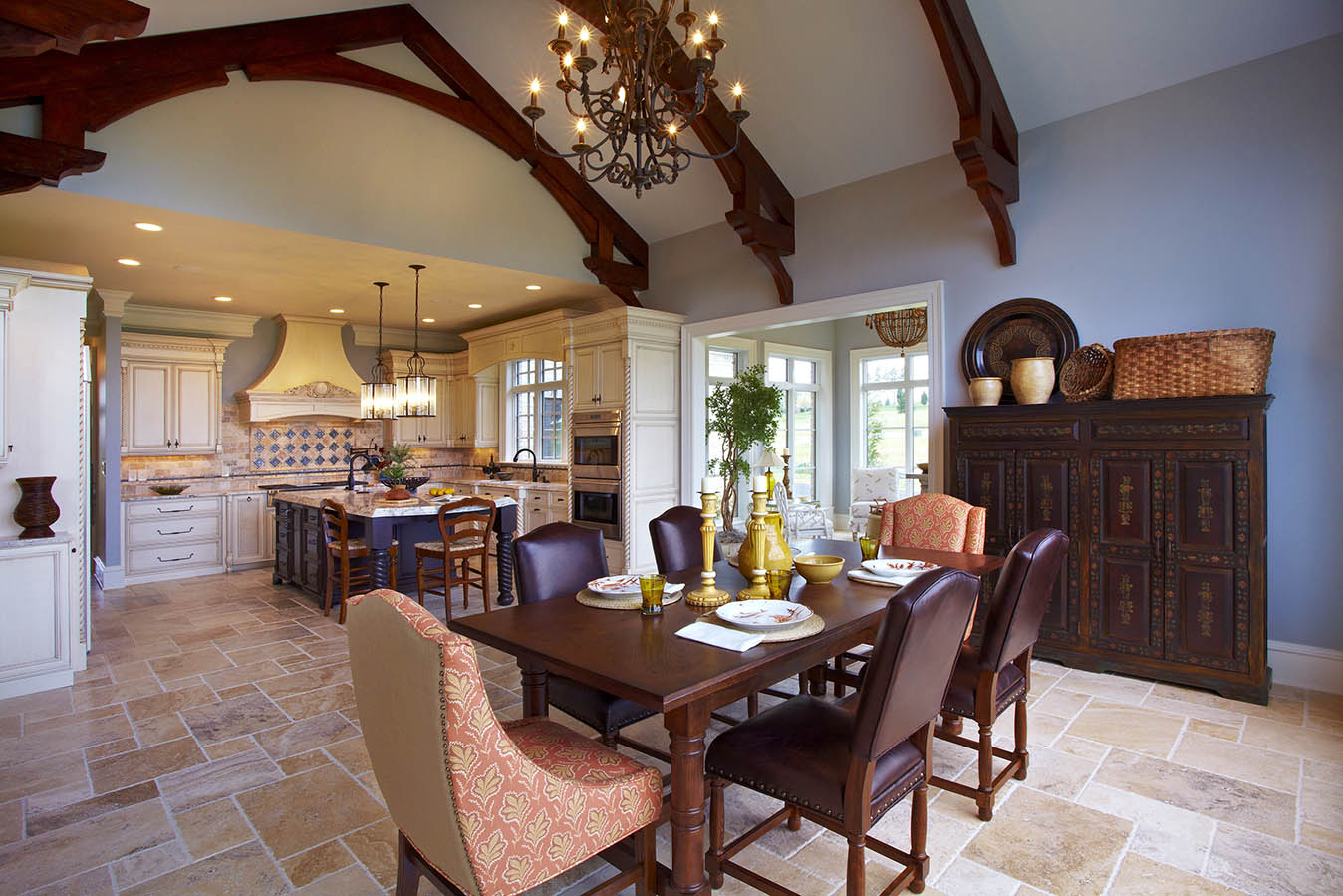 Dining rooms creighton enterprises for Model home kitchens